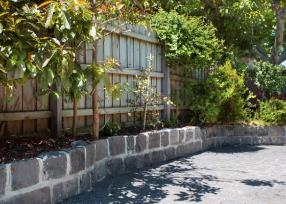 Path edging melbourne garden design idea